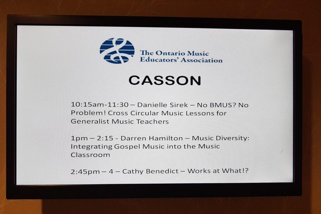 Darren Hamilton presenting a gospel music clinic at the 2017 OMEA Conference.