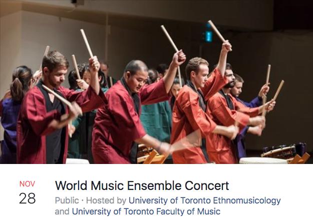 World Music Ensemble Concert Facebook Advertisement