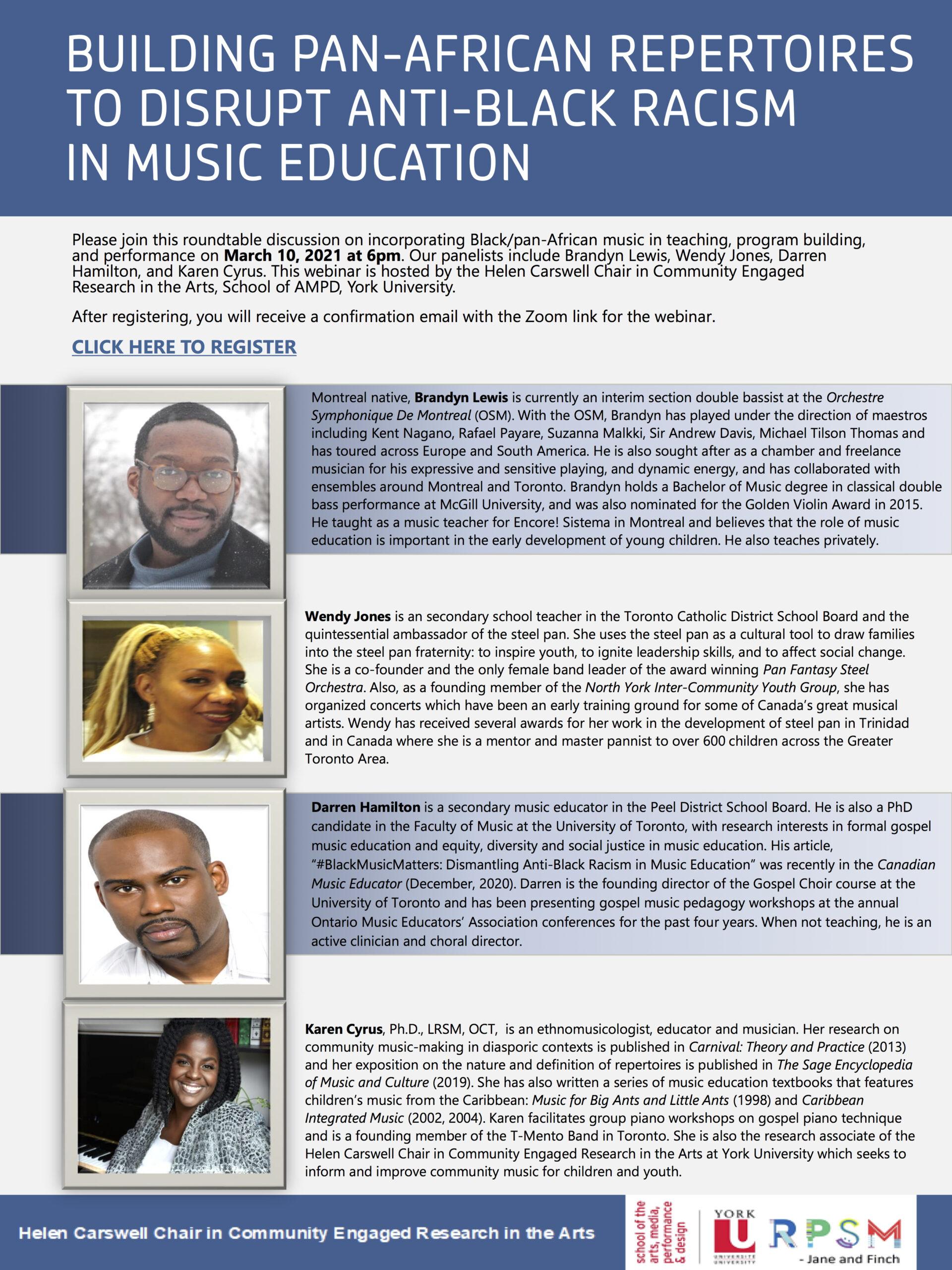Building Pan African Repertoires poster